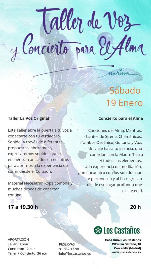Taller de Voz y concierto para el alma @ Los Castaños